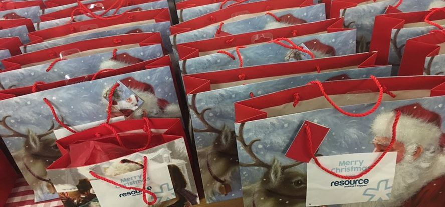 resource & friends donate gift packs to Leeds homeless